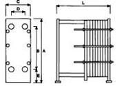 Габаритные размеры разборных пластинчатых теплообменников varitherm